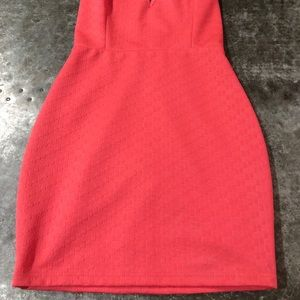 Astr Dresses - New ASTR Coral Pink Bodycon Mini Dress